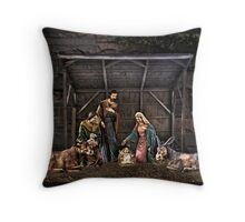 Nativity Scene Throw Pillow