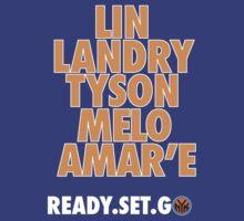 Knicks. Ready. Set. Go, NY! by mdoydora