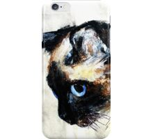 Siamese Cat Acrylics On Paper iPhone Case/Skin