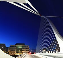 Samuel Beckett Bridge in Dublin by A Man with His Camera