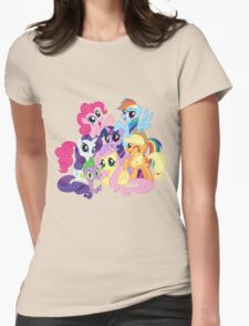 mane six Womens Fitted T-Shirt