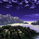 Secret mountains on the Milky Lake. by alaskaman53
