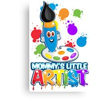 Mommy's Little Artist Canvas Print