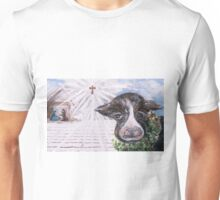Christmas Cow - Oh to Have Been There... Unisex T-Shirt