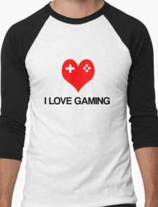 I Love Gaming Men's Baseball ¾ T-Shirt