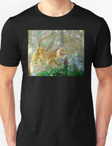 Painted Tiger Mural On A Wall T-Shirt