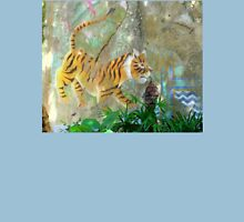 Painted Tiger Mural On A Wall Unisex T-Shirt