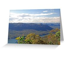 Burragorang View North Greeting Card