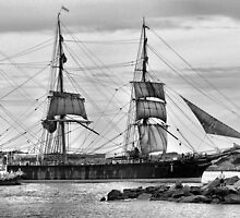 The James Craig - Newcastle Harbour NSW Australia by Phil Woodman