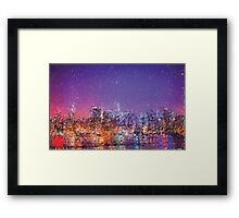 Generative art.  NYC sky line  Framed Print