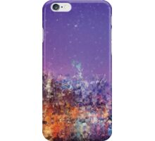 Generative art.  NYC sky line  iPhone Case/Skin