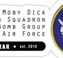 Moby Dick - 320th SQ - 90th BG - 5th AF    Emblem (Black) Sticker