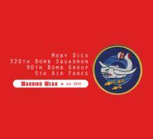 Moby Dick - 320th SQ - 90th BG - 5th AF    Emblem (White) T-Shirt