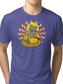 Buddha Cat Tri-blend T-Shirt