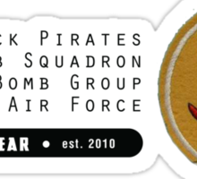 Black Pirates 400th SQ - 90th BG - 5th AF    Emblem (Black) Sticker