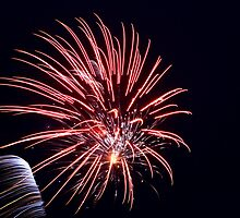 Australia day fireworks by Kerry  Hill