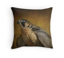 Georgette On Gold Throw Pillow