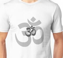 Om Aum symbol - grey Unisex T-Shirt