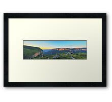 Cliffs of Red  - Panorama of Pearce's Pass Framed Print