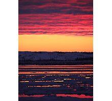 Sunset at Churchill, Canada Photographic Print