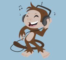 monkey dancing Kids Clothes