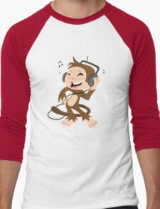 monkey dancing Men's Baseball ¾ T-Shirt
