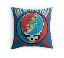 The Grateful Dead psychedelic poster Throw Pillow