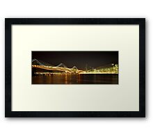Bay Bridge Centered Framed Print