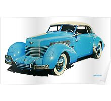 1936 Cord 810 Convertible Phaeton Poster