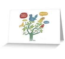 Birds of a Feather Thank Together Greeting Card