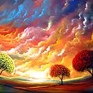 Lollipop Trees abstract sunset by Matthew Hamblen