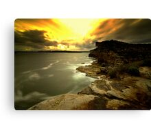 North Head Manly - Sunset from secret spot Canvas Print