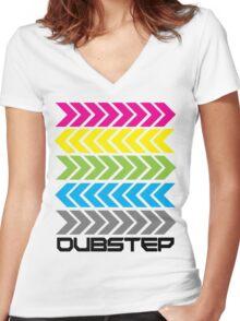 Dubstep arrows (light) Women's Fitted V-Neck T-Shirt