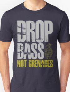 Drop Bass Not Grenades (gray/dark yellow) T-Shirt