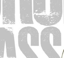 Drop Bass Not Grenades (gray/dark yellow) Sticker