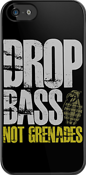 Drop Bass Not Grenades (gray/dark yellow) by DropBass