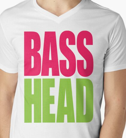 Bass Head (magenta/neon green)  T-Shirt