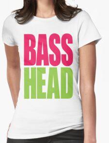 Bass Head (magenta/neon green)  Womens Fitted T-Shirt