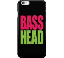 Bass Head (magenta/neon green)  iPhone Case/Skin
