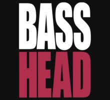 Bass Head (white/magenta)  by DropBass