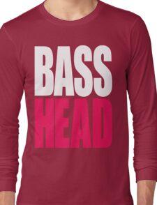 Bass Head (white/magenta)  Long Sleeve T-Shirt