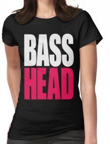 Bass Head (white/magenta)  Womens Fitted T-Shirt