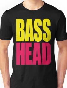 Bass Head (yellow/magenta)  Unisex T-Shirt