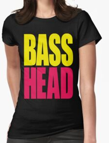 Bass Head (yellow/magenta)  Womens Fitted T-Shirt