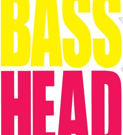 Bass Head (yellow/magenta)  Sticker