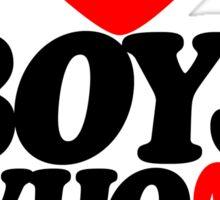 I love boys who love dubstep (light) Sticker
