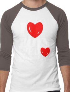 I love boys who love dubstep (dark)  Men's Baseball ¾ T-Shirt