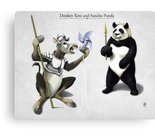Donkey Xote and Sancho Panda Canvas Print