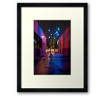 Pink Alley Framed Print