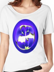 Blue Violets Birth Flower T-Shirt Women's Relaxed Fit T-Shirt